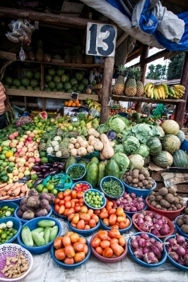 A fruits market stall
