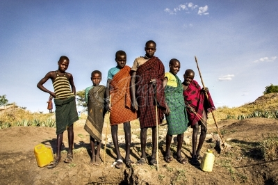 A group of Karamojong teens