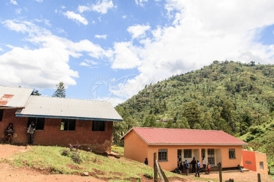 A school on a hilly terrain