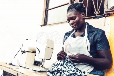 A tailor at her workplace