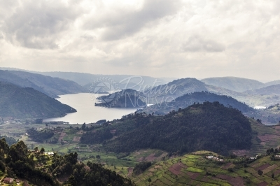 A view of Lake Bunyonyi in Kabale District, South Western Uganda