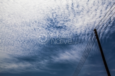 Electricity line on a cloudy background