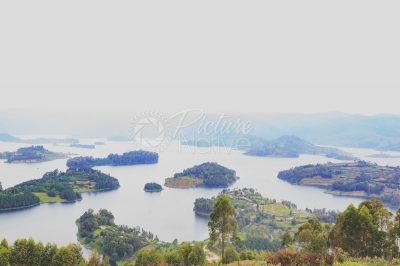 Lake Bunyonyi and the islands