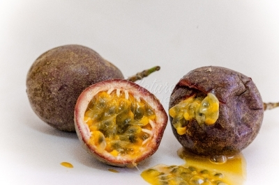 Passion Fruit cut open