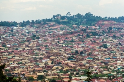 Poor urban housing in Uganda