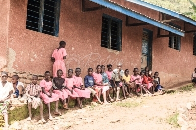 Pupils at a rural school