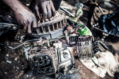 Repairing a motorcycle engine