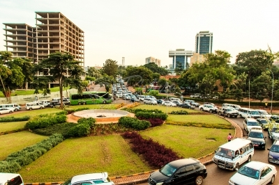 Traffic flow around a traffic circle