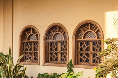 Windows of a mosque