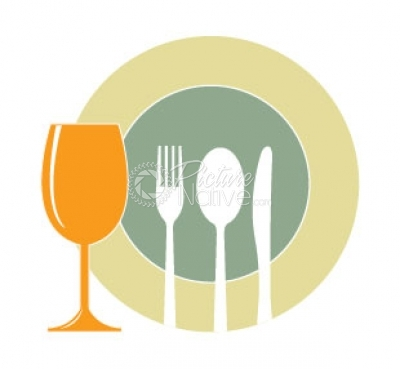 Dining Vector Drawing