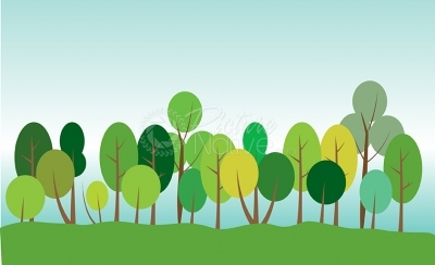 Green forest concept vector illustration