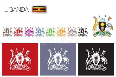 Uganda National Symbols Vector Pack